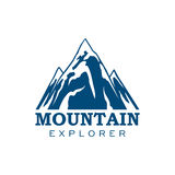 Mountain explorer expedition sport vector icon Royalty Free Stock Image