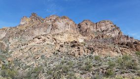 Mountain Face. Beautiful mountains of Arizona adjacent to Canyon Lake royalty free stock images