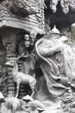 Mountain of the fairy tales. Fairytale characters of the sculptural composition Stock Photo