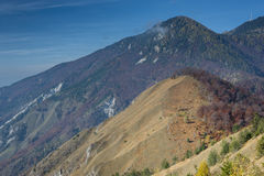 Mountain in fall colors Royalty Free Stock Images