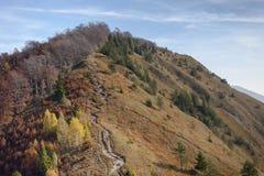 Mountain in fall colors. Kamniški vrh, Gorenjska, Slovenia Royalty Free Stock Images