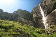 Mountain falls. In Central Balkan National Park in Bulgaria.Its height is 124,5m stock photography