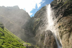 Mountain falls. In Central Balkan National Park in Bulgaria.Its height is 124,5m royalty free stock photography