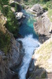 Mountain falls italy Royalty Free Stock Photography