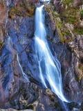 Mountain falls. Mountain waterfall long exposure Stock Photos