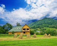 Mountain farm Royalty Free Stock Photo