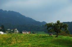 Mountain farm Stock Photo