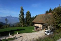 A mountain farm Stock Photo