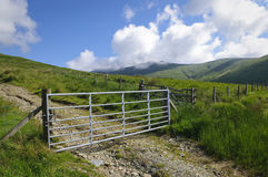 Mountain farm gate Royalty Free Stock Images