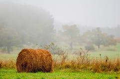 Mountain farm land in virginia mountains. On a misty day royalty free stock photo