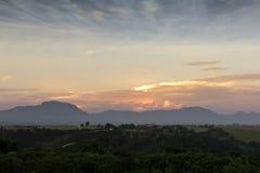 Mountain farm landscape Stock Photos