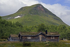 Mountain farm. A mountain farm in the north of sweden royalty free stock image