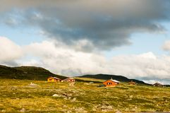 Mountain farm in Norway Stock Images