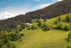 Mountain farm on the Taser mountain trail. Above Schenna near Meran, South Tyrol royalty free stock photography
