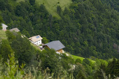 Mountain farmer house in the alps Royalty Free Stock Photography