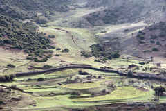 Mountain farmland Stock Images