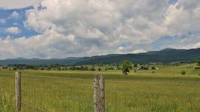 Mountain Farmland. Farmland in the mountains of southern West Virginia Stock Image