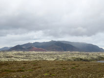Mountain Field. Multiple layer of Icelandinc terrian Stock Photos