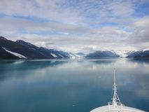Free Mountain Filled Horizon On The Pacific Ocean. Inside Passage Alaska Under A Cloudy Sky Royalty Free Stock Photography - 140378077