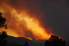 Mountain fire Stock Images