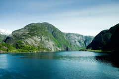 Mountain fjord Stock Photography