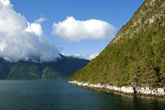 Mountain and fjord Royalty Free Stock Photo