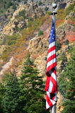 Mountain Flag Stock Image