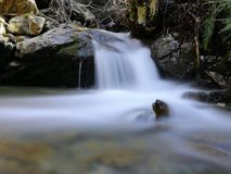 Beautiful Forest Flow. Mountain Flow. Beautiful Forest Flow.  Stones and Water Royalty Free Stock Images