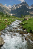 Mountain flowing torrent stock image