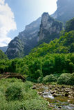 Mountain and Flowing Water Royalty Free Stock Image