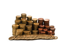 A mountain fo coins. Royalty Free Stock Photo