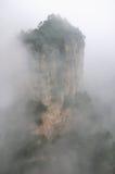 Mountain in fog Royalty Free Stock Photo