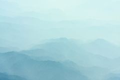 Mountain in fog Royalty Free Stock Photo