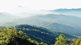 Mountain. Fog cloud green nature royalty free stock photo
