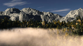 Mountain fog landscape Royalty Free Stock Image