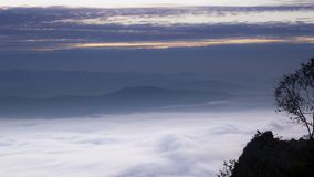 Mists mountains winter North Thailand royalty free stock images