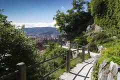 Mountain foot path Royalty Free Stock Photo
