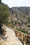 Mountain footpath in the Crete. Mountain footpath in the island Crete Stock Images