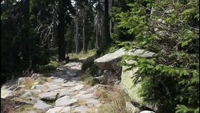 Mountain footpath Royalty Free Stock Photography
