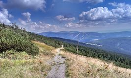 Mountain footpath Stock Photography