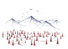 Mountain and forest Stock Images