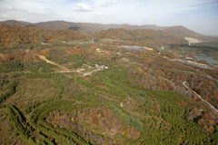 Mountain forests of Appalachia. View of the mountain forests of Appalachia taken in autumn stock photo