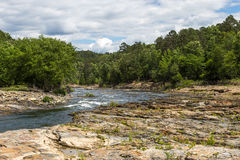 Mountain Fork River. The Mountain Fork River near Broken Bow Oklahoma royalty free stock photos