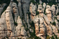 Mountain formations in Montserrat Royalty Free Stock Images