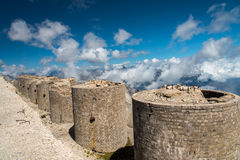 Mountain fortifications Stock Photo