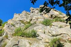 Mountain - fortress reserve Tustan. Ukraine Royalty Free Stock Photography