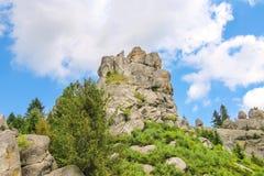 Mountain - fortress reserve Tustan. Ukraine Royalty Free Stock Photos