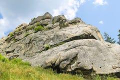 Mountain - fortress reserve Tustan. Ukraine Stock Photo