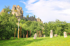 Mountain - fortress. Urych, Lviv region, Ukraine Royalty Free Stock Photos