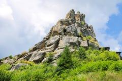 Mountain - fortress. Urych, Lviv region, Ukraine Royalty Free Stock Image